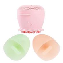 Escova de limpeza facial com esponja espumante de poros profundos