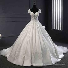 Атласная Бисероплетение Кружева Бальное Китай Свадебные Платья