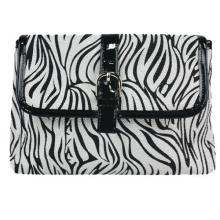 Sac de soirée PU imperméable Zebra pour maquillage