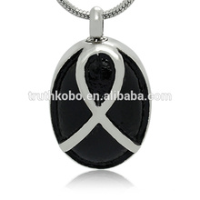 Pendentif en acier inoxydable design de mode collier cendres bijoux commémoratifs