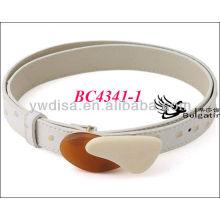 Branco moda PU cintos para mulheres com tamanho 2,5 * 83 centímetros BC4341-1