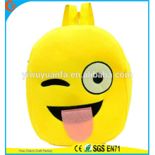 High Quality Charming Style Plush Emoji School Bag Backpack For Kids