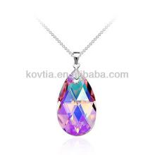 Vente en gros pendentif en pierres précieuses diamant en cristal