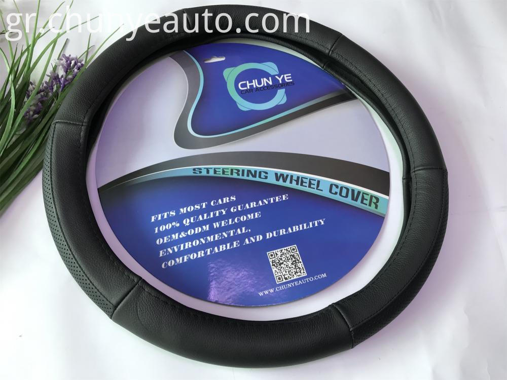 real leather truck steering wheel cover