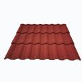 Tejas de techo de metal revestidas de piedra de color