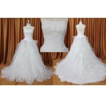 Без Бретелек Блестки Органза Свадебные Платья