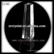 k9 prêmio de cristal em branco X106