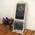 Vintage Rustic Style Compatible with Liquid Chalk Markers Chalkboard Sandwich Board (White)