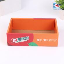 Caja de empaquetado corrugado de la fruta de las naranjas del tamaño personalizado con hecho a mano