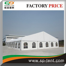 Latest Design White 18m Big Curve Marquee Dome Tent with Aluminum Frame for Events