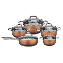 Beautiful 11pcs stainless steel cookware sets kitchenware