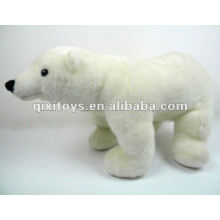 urso polar em pé de pelúcia brinquedo macio recheado