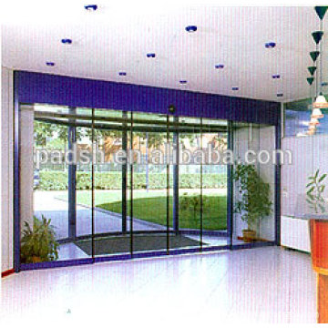 automatic sliding door with four leaves sliding