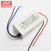 Original MEANWELL 6W a 36W APV serie 16W 24VDC voltaje constante led transformador UL CE precio barato APV-16-24