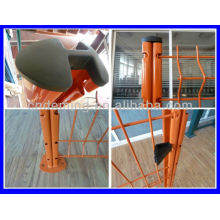 curvy polymer welded wire mesh fence