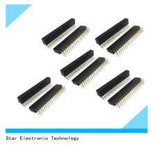 40 Pin 2,54 mm Pitch zweireihig rechtwinklig Pin Stiftleisten