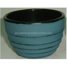 Hot Sale High Capacity Enamel Cast Iron Cup with Trivet