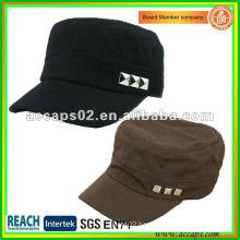 gold button military style cap MC-1282
