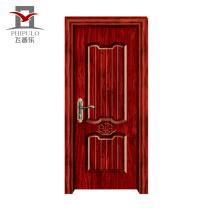 Puerta de dormitorio de madera de acero ecológico de gama alta de nuevo modelo