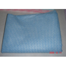 wavy spunlace nonwoven fabric for disposable cleaning cloth