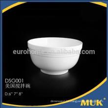 hotel fashion design restaurant white porcelain bowls