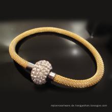 Benutzerdefinierte handgefertigte Original Magnetverschluss verstellbare geflochtene Leder Metall Seil Armbänder für Männer