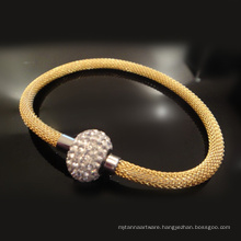 Custom Handmade Original Magnetic Clasp Adjustable Braided Leather Metal Rope Bracelets for Men