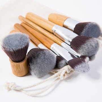 Conjunto de escova profissional da composição 11PCS com punho de bambu