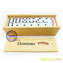 Wooden Box Packing Custom Logo Printing Dominoes