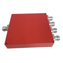 138-960MHz Wilkinson Micro Stripline 4 Way Power Splitter 4.3-10 Female Power Splitter
