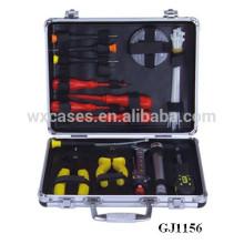 fuerte y portátil aluminio caso con herramientas Tienda sistema dentro