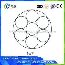 1 * 7 Cable de alambre de acero sin galvanizar