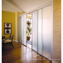 Hoja de cristal clara / manchada, puerta de gabinete de cocina de cristal
