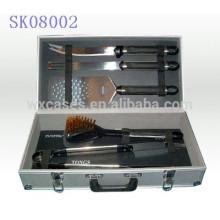 caixa de ferramenta forte & portátil de alumínio para ferramentas para churrasco