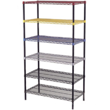 Reasonable price high quality chromed wire shelf rack Sturdy Metal Wire shelf lee rowan wire shelving