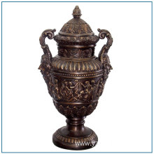 Antique Greek Religious Bronze Vase Sculpture for Sale