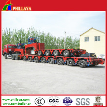 Power-Pack Gooseneck 8 Line Modular Hydraulic Low Bed Semi Trailer
