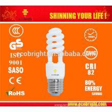 CHAUD! T2 Spirale moitié CFL lampe 13W 10000H CE qualité