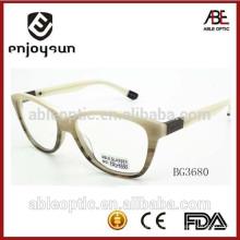 Moda acetato óculos ópticos mulheres com CE & FDA