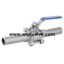 Carbon Ss Soft Seated Extended Tube Ball Valve