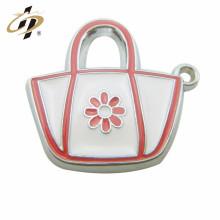 custom made design metal logo bag charm and pendant