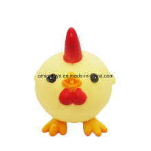 Brinquedos pequenos da galinha do plástico dos desenhos animados
