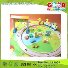 Brinquedos para crianças brinquedos brinquedos de trilhas de madeira brinquedos de trilhas de desenhos animados