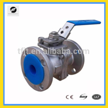 Stainless Steel304 SS316 2PC e 3pcs Flange Ball Valve com suporte de montagem CWX-series Stainless Steel304 SS316 2PC Flange B
