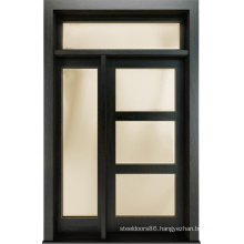 Contemporary Style Solid Wooden Glass Door