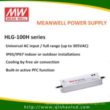 Controlador de fuente de alimentación IP65 de 100W LED (Meanwell HLG-100H)
