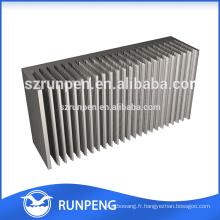 Extrusions en alliage d'aluminium dissipateur thermique, étui dissipateur en aluminium, extrusion en aluminium