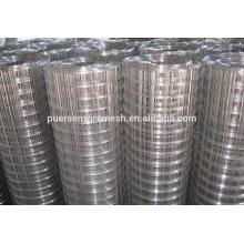 Matériau du fil de fer à faible teneur en carbone et type de maille soudé Galvanisé au fil métallique soudé en rouleaux