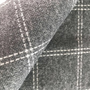 Plaid Design Doppelstrick Jacquard