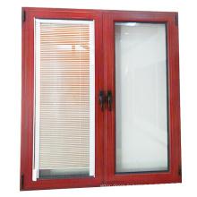Charnière à ouverture supérieure pour fenêtres à lamelles en verre aluminium